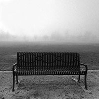 Bench on a field